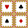 Playing card symbols frame Royalty Free Stock Photo