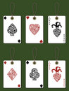 Playing card tags Stock Photography