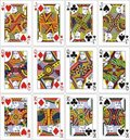 Playing cards 62x90 mm jack queen king