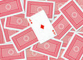 Playing cards, Ace of diamonds Stock Photos
