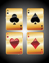 Playing cards aces Royalty Free Stock Photo