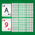Playing cards alphabet and digit vector set of Stock Image