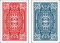 Playing cards back side Royalty Free Stock Photo