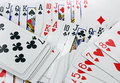 Playing cards background abstract gambling poker Stock Photo