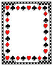 Playing Cards border Poker suits Royalty Free Stock Photo