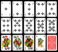 Playing cards - Clubs Stock Images