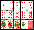 Playing cards - Diamond Stock Photography