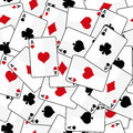 Playing cards with four aces seamless pattern Royalty Free Stock Photo