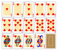 Playing Cards - Hearts Stock Photography