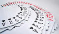 Playing cards of hearts, diamonds, clubs, spades Royalty Free Stock Images