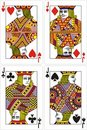 Playing cards jack 60x90 mm Royalty Free Stock Photo