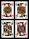 Playing cards - jacks Royalty Free Stock Photo