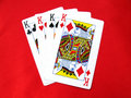 Playing Cards-Kings Royalty Free Stock Photos