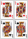 Playing Cards - Kings Royalty Free Stock Image