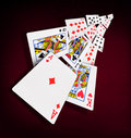 Playing cards poker casino Royalty Free Stock Photo