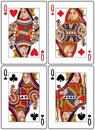 Playing Cards - Queens Stock Photo