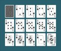 Playing Cards Spades Set Royalty Free Stock Photo