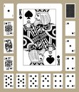 Spades suit playing cards Royalty Free Stock Photo