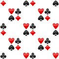 Playing Cards Suits Icon Seamless Pattern