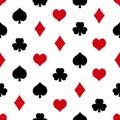 Playing cards symbols set seamless pattern eps10 Royalty Free Stock Photo