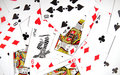 Playing cards texture Stock Images