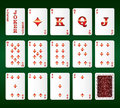 Playing cards vector. All the Diamonds Royalty Free Stock Image