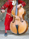 Playing cello Royalty Free Stock Images