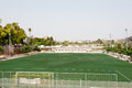 Playing field in valencia in past river Royalty Free Stock Image