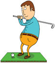 Playing golf Royalty Free Stock Image