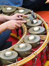 Playing gong Royalty Free Stock Photos