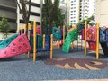 Playing ground colorful children in the flat complex Royalty Free Stock Photography