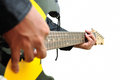 Playing the Guitar Royalty Free Stock Photography