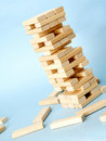 Playing jenga Stock Images