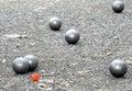 Playing jeu de boules Royalty Free Stock Photo