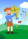 Playing kite Royalty Free Stock Photo
