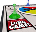 Playing the Long Game Moving Forward Patience Returns Later Inve Royalty Free Stock Photo