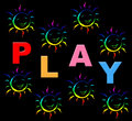 Playing play indicates free time and kid meaning youngsters Royalty Free Stock Image