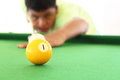 Playing pool thai young man Stock Images