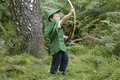 Playing Robin Hood Royalty Free Stock Photo