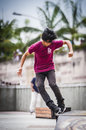 Playing Roller Blade Royalty Free Stock Photo