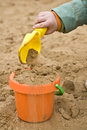 Playing with sand Royalty Free Stock Photography