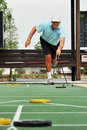 Playing Shuffleboard Royalty Free Stock Image