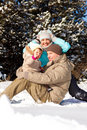 Playing in snow Royalty Free Stock Photography