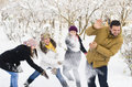 Playing in Snow Royalty Free Stock Photo