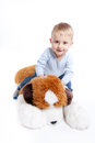 Playing with teddy bear Stock Photography