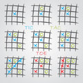 Playing tic tac toe Royalty Free Stock Photos