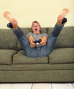 Playing video games Royalty Free Stock Photos