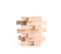 Playing wood blocks stack game