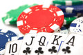 Plays poker Royalty Free Stock Photo