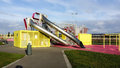 Playset or playground modern design outdoor children s in bijlmerpark amsterdam in holland Royalty Free Stock Photography